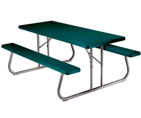 lifetime picnic table 22123 hunter green 6 foot foldable table. Black Bedroom Furniture Sets. Home Design Ideas