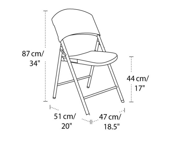 Lifetime 2810 Folding Chair 32 Pack On Sale With Fast