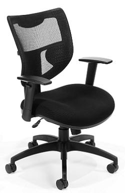 New Ofm 580 Comfy Seat Executive Black Mesh Office Chair