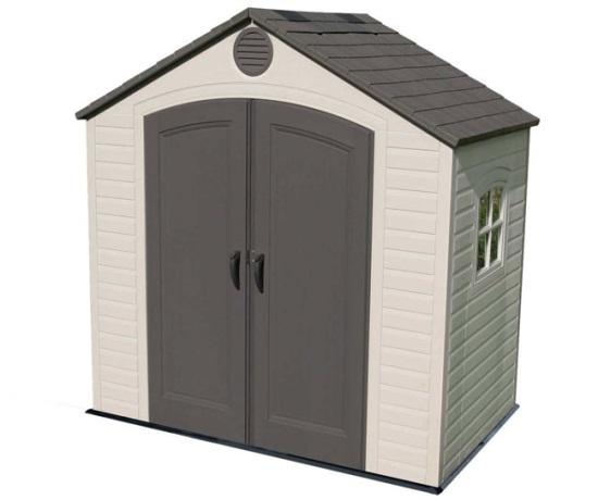Lifetime shed 6406 8 ft x 5 ft outdoor plastic storage sheds - Casetas jardin pvc ...