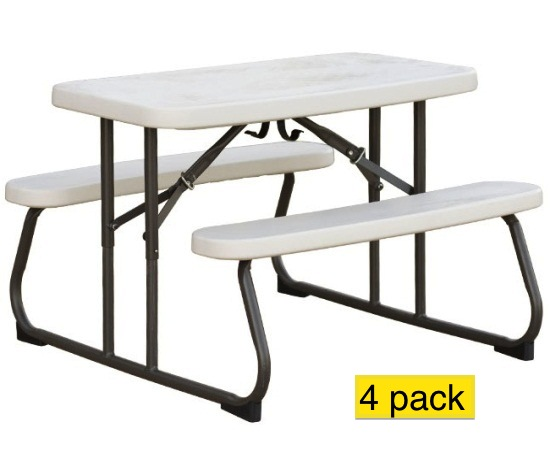 Folding Kids Table : Tables > Camping Tables > Folding Tables with Benches > Lifetime Kid...