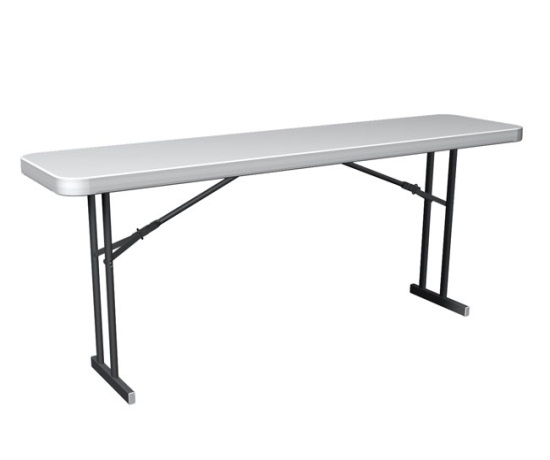 Folding seminar tables lifetime tables 6 ft 80176 white for Table 6 feet
