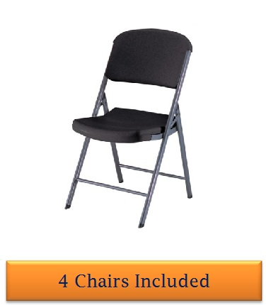 Lifetime Folding Chairs 80187 Black Colored Seat And
