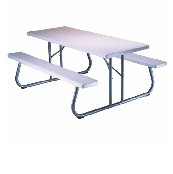 ... Lifetime Picnic Tables - 80215 Folding Picnic Table 6 ft. White Top